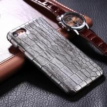 iPhone 6 Plus & 6S Plus Krokodil patroon Kunststof back cover Hoesje (zilverkleurig)