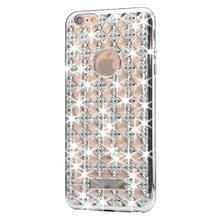 Voor iPhone 6 Plus & 6s Plus Agate & Diamond Encrusted galvaniseren TPU beschermende back cover Case(Silver)