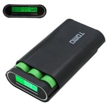 TOMO M3 DIY Lader 3 x 18650 batterijen Power Bank Shell Box met LCD display & 2 USB Output voor iPhone  iPad  Samsung  HTC  Sony(zwart)