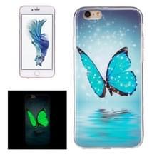 Voor iPhone 6 Plus & 6s Plus Noctilucent vlinder patroon IMD vakmanschap TPU terug dekken softcase