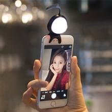 For Smart Phone Self Light with Hook  For iPhone  Galaxy  Huawei  Xiaomi  LG  HTC and Other Smart Phones(Black)