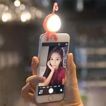 For Smart Phone Self Light with Hook  For iPhone  Galaxy  Huawei  Xiaomi  LG  HTC and Other Smart Phones(Magenta)