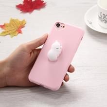 Voor iPhone 6 Plus & 6s Plus 3D wit kat patroon Squeeze Relief Squishy Dropproof terug dekken beschermhoes
