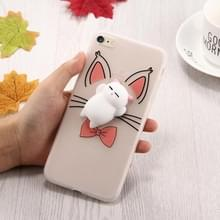 Voor iPhone 6 Plus & 6s Plus 3D Cartoon Squeeze Relief Squishy Dropproof back cover beschermhoes