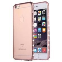 Voor iPhone 6 Plus & 6s Plus Diamond Encrusted TPU beschermende back cover(Pink)