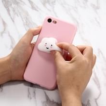 Voor iPhone 6 Plus & 6s Plus roze achtergrond mooie Cloud patroon Squeeze Relief Squishy Dropproof back cover beschermhoes