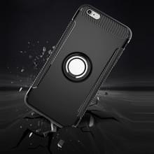 Voor iPhone 6 Plus & 6s Plus magnetische 360 graden rotatie Ring Armor beschermende Case(Black)