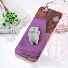 Voor iPhone 6 Plus & 6s Plus 3D mooie kat patroon Squeeze Relief IMD vakmanschap Squishy Dropproof terug dekken beschermhoes