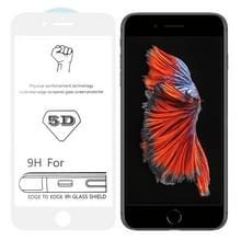 9H 5D witte volledige lijm volledig scherm gehard glas film voor iPhone 6 plus/6s plus