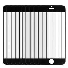 10 stuks voor iPhone 6 Plus Front scherm Outer glas Lens(Black)