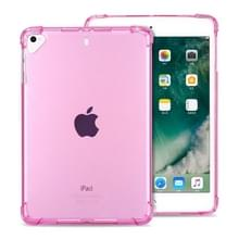 Zeer transparante TPU volledige Thicken hoeken schokbestendige beschermende case voor iPad 9 7 (2018) & (2017)/Pro 9 7/Air 2/Air (roze)