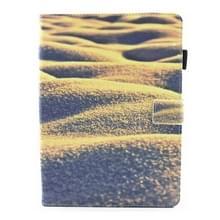 Voor iPad 9 7 (2018) & iPad 9.7 inch 2017 / iPad Air / iPad Air 2 universele woestijn patroon horizontale Flip leren beschermhoes met houder & Card Slots