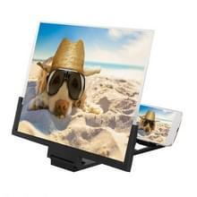 F3 14 inch stralingsbescherming universele mobiele telefoon scherm versterker 3D HD video versterker met standaard (zwart)