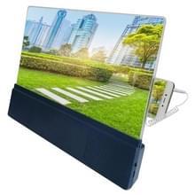 F5 12 inch universele mobiele telefoon scherm versterker HD video versterker met stand & speaker  opladen versie