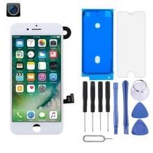 LCD-scherm en Digitizer Full Assembly zijn voorzien van frontcamera voor iPhone 7(Wit)