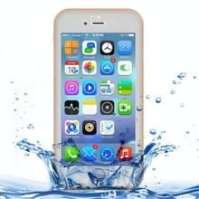 iPhone 7 & 8 geheel omhullend Diamant patroon waterbestendig TPU + Kunststof Hoesje (goudkleurig)