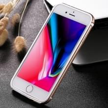 iPhone 7 & 8 gekleurd Aluminium bumper frame Hoesje (goudkleurig)