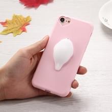 iPhone 7 & 8 3D zeehond met roze achtergrond patroon Kunststof back cover Hoesje met knijp speeltje