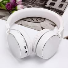 SH-16 hoofdband vouwen Stereo draadloze Bluetooth hoofdtelefoon hoofdtelefoon  steun 3.5mm Audio & Hands-free Call & TF kaart & FM  voor iPhone  iPad  iPod  Samsung  HTC  Sony  Huawei  Xiaomi en andere Audio-Devices(Silver)