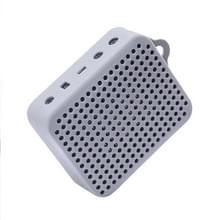Draagbare Bluetooth waterdichte speaker duurzaam silicone cover dragen mouw tas Pouch Case voor JBL GO2 (grijs)