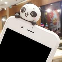 Voor iPhone 8 & 7 drie Panda's patroon 3D mooie Papa Panda Dropproof back cover beschermhoes