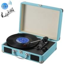 EC102B koffer design muziek disc speler Tuntable platenspeler (blauw)