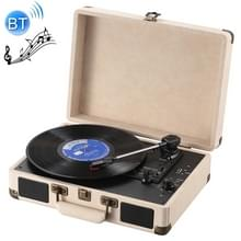 EC102W Suitcase Design Music Disc Player Tuntable Record Player
