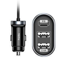 TOTUDESIGN DCCPD-05 Speedy Series PD + 2.4 A autolader met kabel  lengte: 1 2 m
