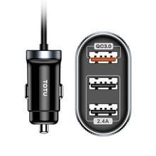 TOTUDESIGN DCCQ-006 Speedy serie QC + 2.4 A autolader met kabel  lengte: 1 2 m