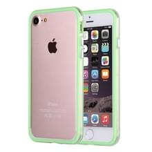 iPhone 7 & 8 TPU + Kunststof bumper frame Hoesje (groen)