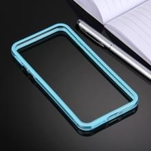 iPhone 7 & 8 TPU + Kunststof bumper frame Hoesje (blauw)
