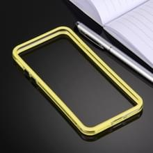 iPhone 7 & 8 TPU + Kunststof bumper frame Hoesje (geel)