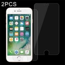 2 stuks voor iPhone 8 Plus & iPhone 7 Plus 0 26 mm 9H oppervlakte hardheid 2.5D explosieveilige getemperd glas Non-full Screen Film
