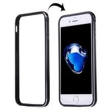 iPhone 7 Plus & 8 Plus TPU + Aluminium bumper frame Hoesje (zwart)