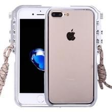 Voor iPhone 8 & 7 Plus 4e Design Trigger aluminium Metallic Bumper Frame(Silver)