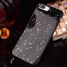 Voor iPhone 8 Plus & 7 Plus Epoxy druipend zwart sterrenhemel zachte TPU Case terug beschermkap