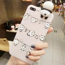 Voor iPhone Hang 8 Plus & 7 Plus de kleren Panda's patroon 3D mooie Papa Panda Dropproof back cover beschermhoes