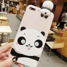 Voor iPhone 8 Plus & 7 Plus baard Panda's patroon 3D mooie Papa Panda Dropproof back cover beschermhoes