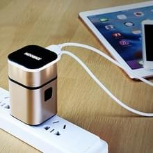 JOYROOM L-T215 5V 3.2a draagbare Multi-functie Dual USB-poorten Laad reislader  Voor Samsung Smart / Huawei / Xiaomi / Meizu / LG (Rose Goud)