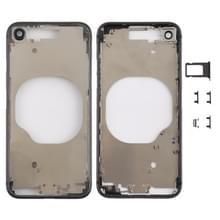 Transparante backcover met Camera Lens & SIM kaart lade & Zijtoetsen voor iPhone 8 (zwart)
