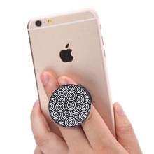 Universele telefoonhouder multifunctionele abstracte patroon uitbreiden Stand Grip klem touw Stand voor Smartphones