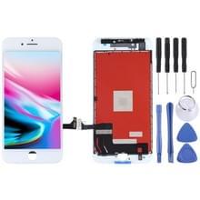 Originele LCD-scherm en digitizer volledige assemblage voor iPhone 8 (wit)