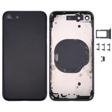Terug huisvesting Cover voor iPhone 8 (zwart)