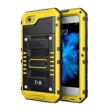 Waterdichte stofdichte schokbestendige zink legering + siliconen case voor iPhone 8 & 7 (geel)