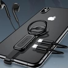 USAMS 8 aan Dual 8 Pin Audio ringhouder snel opladen Adapter(Black) spelden