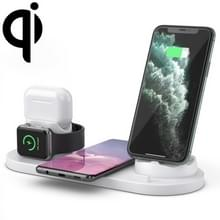 6 in 1 10W Qi Standard Wireless Charger Stand (Wit)