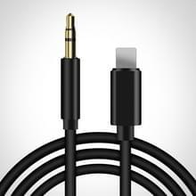 8 Pin tot 3 5 mm AUX Audio Adapter Cable  Lengte: 1m (Zwart)