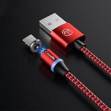 CaseMe Series 2 USB naar 8 Pin magnetische oplaadkabel  lengte: 1m (rood)