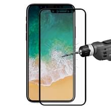 ENKAY Hat-Prins voor iPhone X 0 26 mm 9 H oppervlaktehardheid 2.5D Explosieveilig volledig scherm getemperd glas scherm Film(Black)