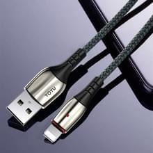 TOTU BL-002 Bright Sereis 3A USB naar 8 Pin Fast Charging Data Sync Cable  Lengte: 1.2m (Groen)